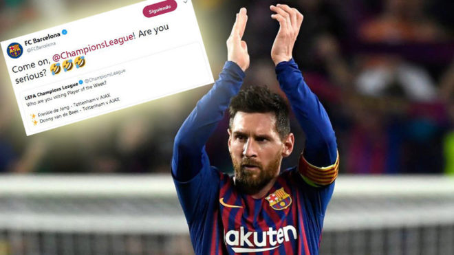 Barcelona: Barcelona respond in jest to UEFA's request for MVP suggestions | MARCA in English