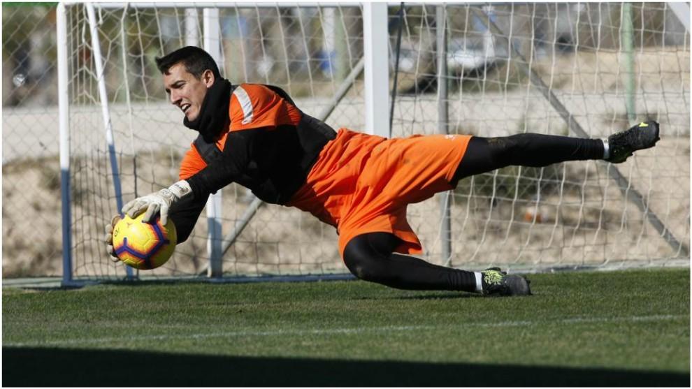 Edgar Badía, en un entrenamiento