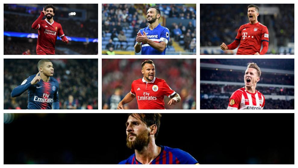 Los máximos anotadores de las siete grandes Ligas europeas
