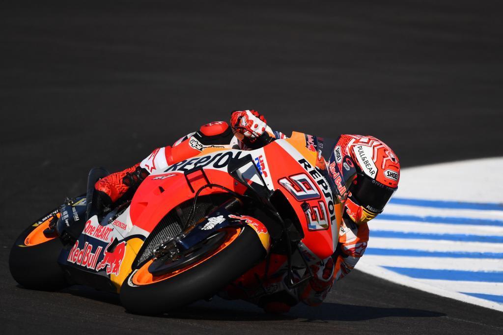 Marc Marquez durante la sesión de libres del GP España MotoGP 2019...