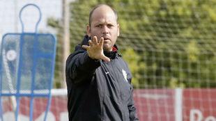 José Alberto, en un entrenamiento.