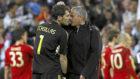 Casillas y Mourinho, durante un partido de Champions.