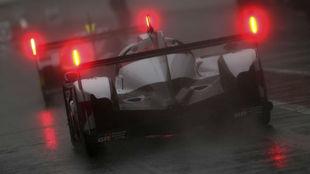 Uno de los Toyota, durante la sesión de ayer en Spa.