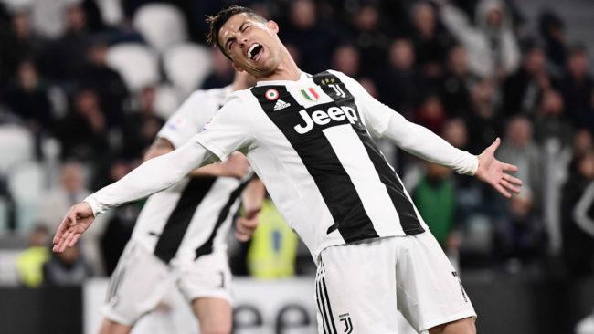 Cristiano celebra su gol al Torino