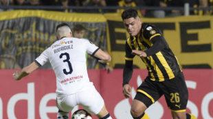 """Gabriel """"Toro"""" Fernández, con Peñarol."""
