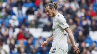 Bale, durante su último partido en el Santiago Bernabéu.