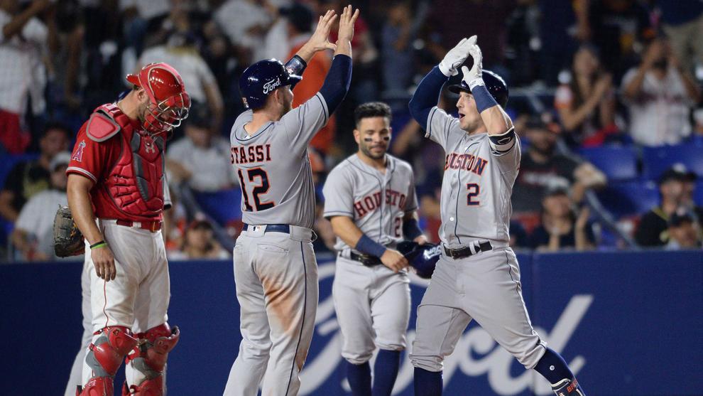 Los Astros fueron categóricos al bat.