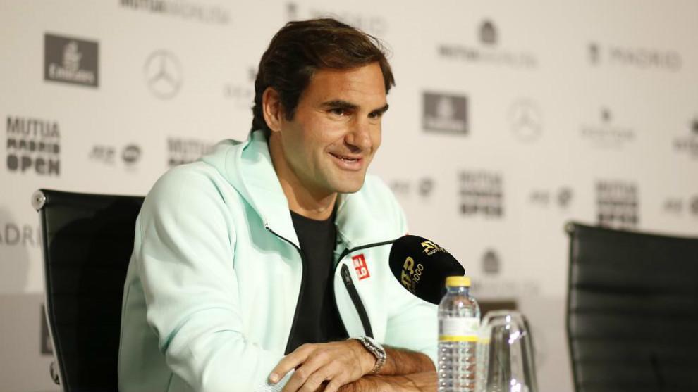 Roger Federer, durante su comparencia