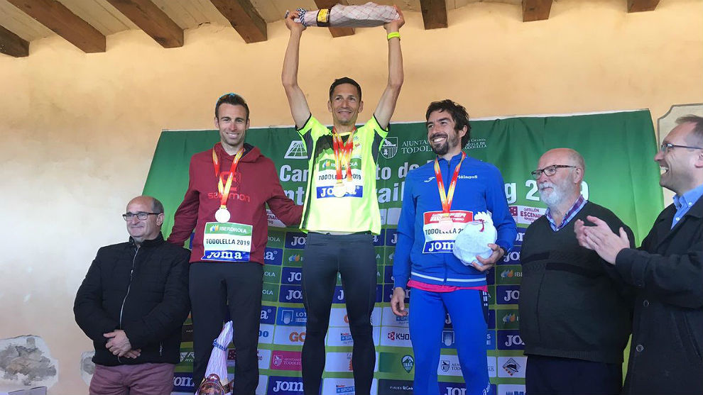 El podio masculino en La Todolella.