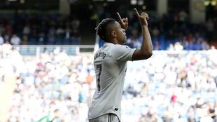 Mariano celebra su gol