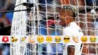 Mariano celebra su segundo gol al Villarreal