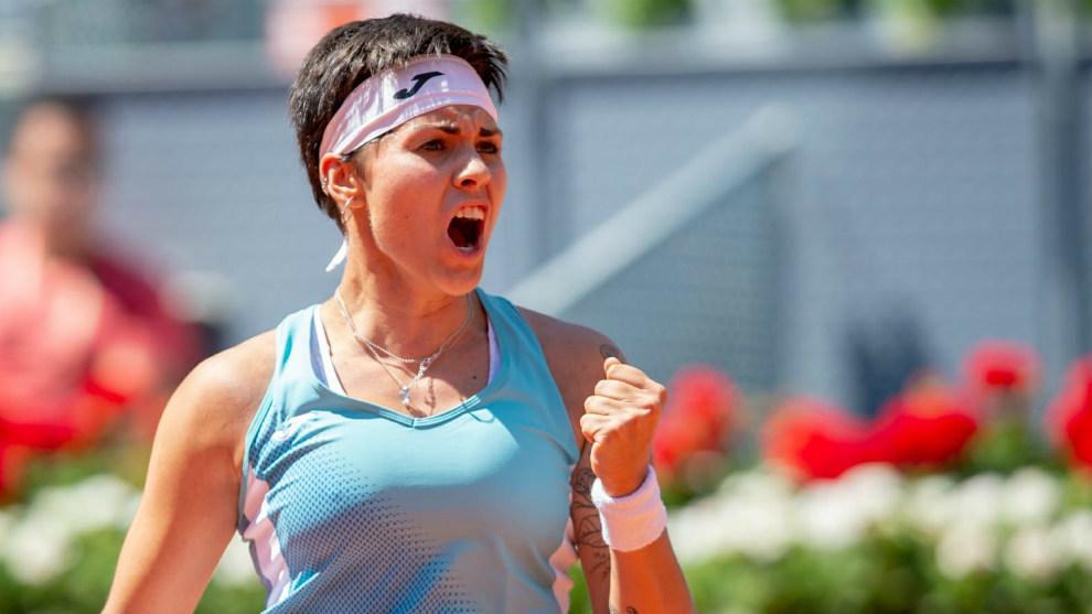 Aliona Bolsova, en el Mutua Madrid Open