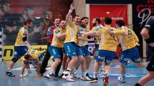 Los jugadores del Kielce celebran la calificación pra la Final Four