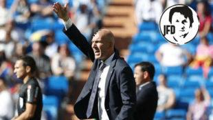 Zinedine Zidane, durante el partido ante el Villarreal.