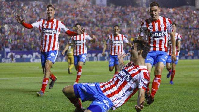 El festejo del Atlético de San Luis