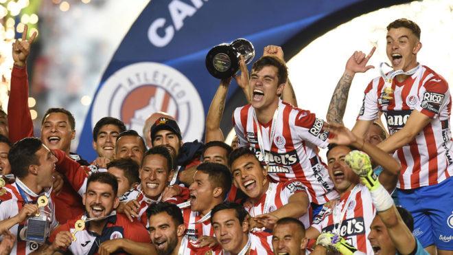 El festejo del Atlético San Luis, campeón