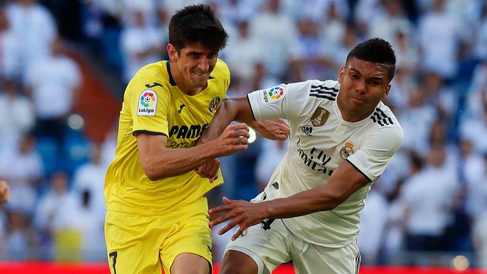 Gerard Moreno, ayer frente al Real Madrid