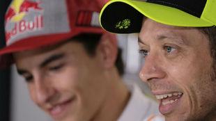 Márquez y Rossi, en Jerez.