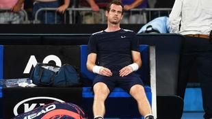 Murray, sentado en la silla