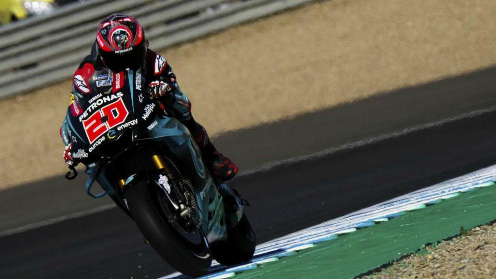 Fabio Quartararo, en Jerez.