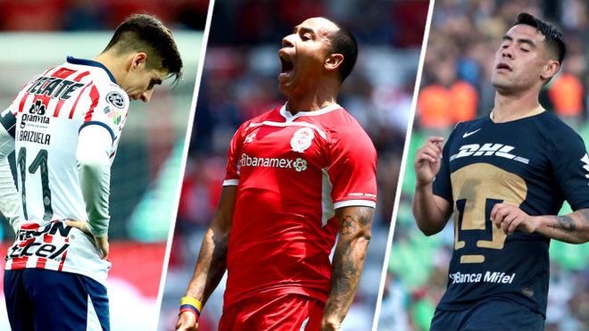 Chivas, Toluca y Pumas, eliminados