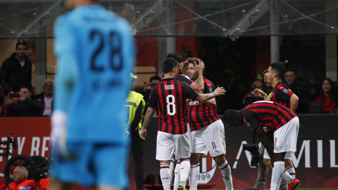 Milan aún tiene opciones de Champions League.