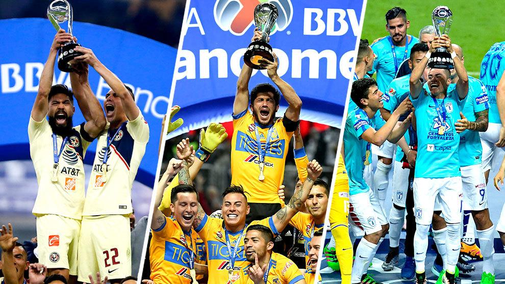 América, Tigres y Pachuca han ganado tres de las últimas seis Ligas...