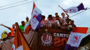 Los potosinos salieron a disfrutar del campeonato con su afición.