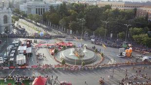 El pelotón de la Vuelta transcurre por Madrid en la última etapa
