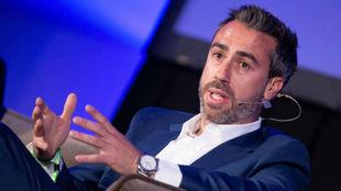 Jorge Vilda durante una conferencia en Barcelona.