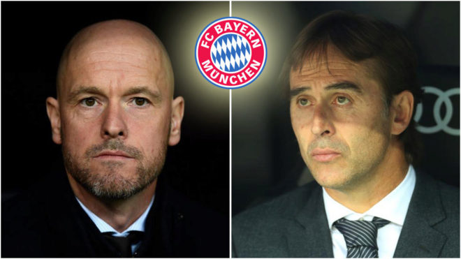 Erik Ten Hag and Julen Lopetegui.