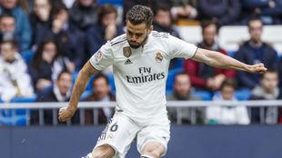 Nacho, en un partido de esta temporada en el Bernabéu.