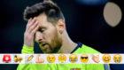 Messi, incrédulo en Anfield