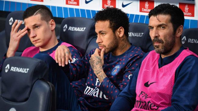 Buffon, Draxler y Neymar, en el banquillo.