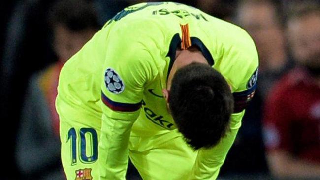 Messi, en el duelo contra el Liverpool