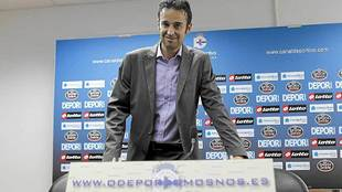 Manuel López Cascallar, durante la presentación de su candidatura en...