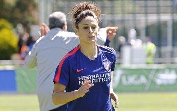 Esther González durante un entrenamiento.