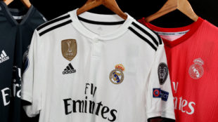 Las tres camisetas del Real Madrid de la presente temporada.