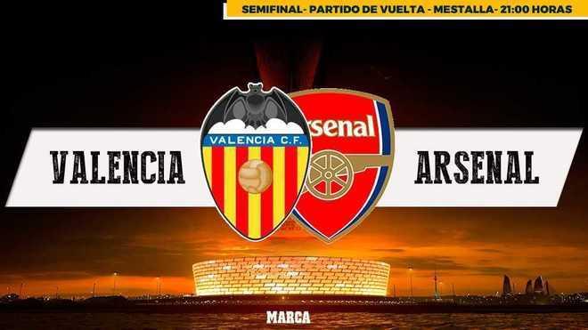 Valencia - Arsenal : Hora, canal y dónde ver en televisión