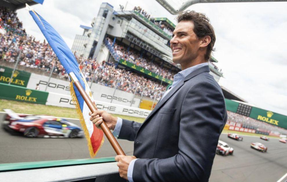 Rafael Nadal, dando la salida a la edición de 2018 de las 24 Horas de...