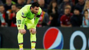 Messi, derrotado en Anfield /