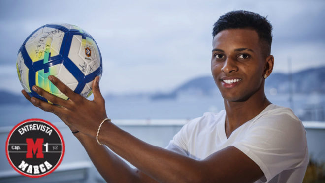 Rodrygo spoke to MARCA in Santos.
