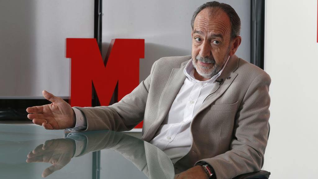 El presidente de la Federación Madrileña de Fútbol, Paco Díez,...