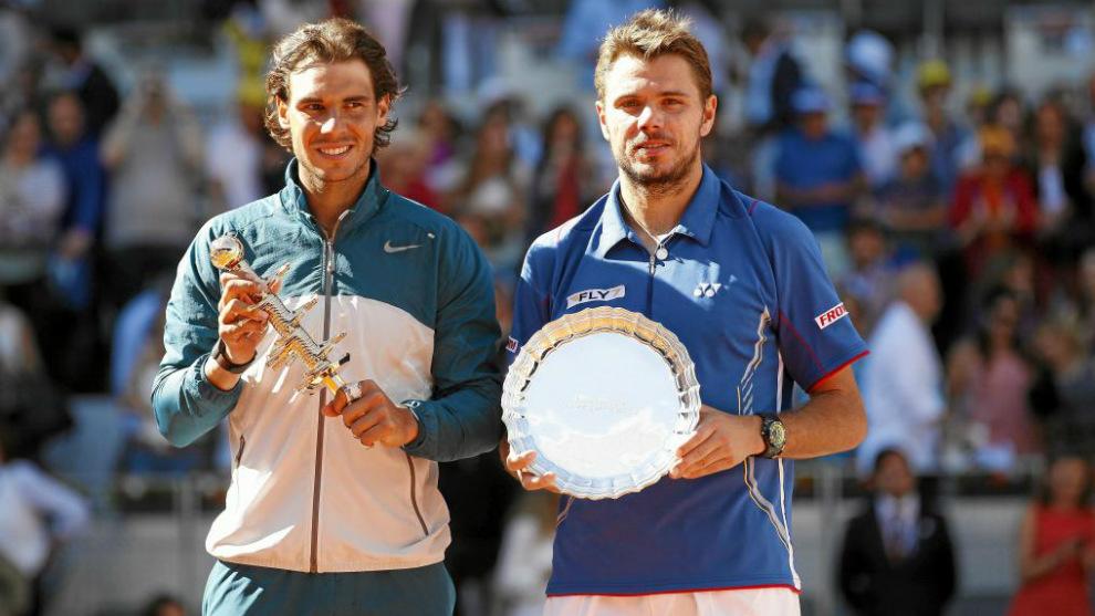 Nadal y Warinka en la final del Mutua Madrid Open 2013