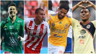 ¿León vs Necaxa y Tigres vs América en semis?