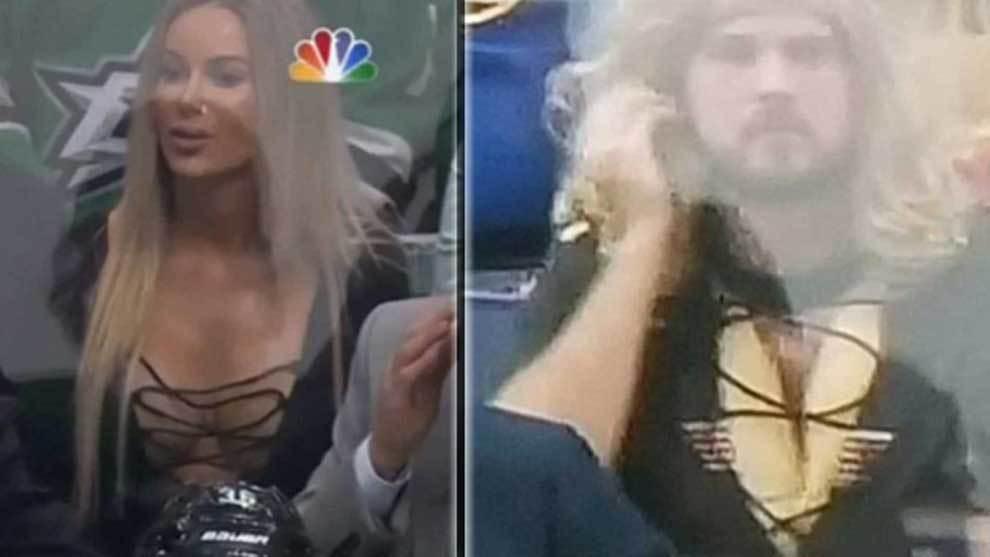 Un aficionado barbudo de los St. Louis Blues troleó a la