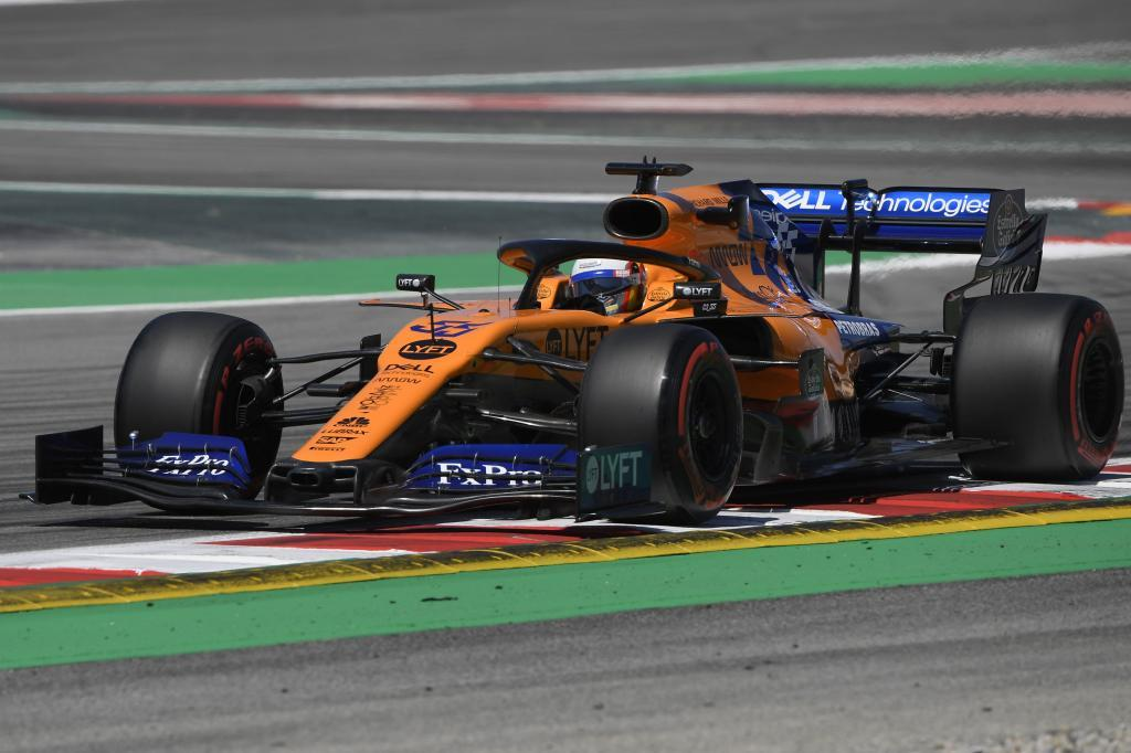 McLarens Spanish driver Carlos <HIT>Sainz</HIT> Jr drives during the first practice session at the Circuit de Catalunya on May 10, 2019 in Montmelo on the outskirts of Barcelona ahead of the Spanish Formula One Grand Prix. (Photo by LLUIS GENE / AFP)