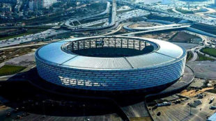 Imagen del estadio Olímpico de Bakú.
