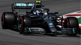 Bottas, en el circuito de Barcelona.