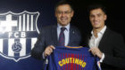 Bartomeu y Coutinho, en la presentación del jugaor